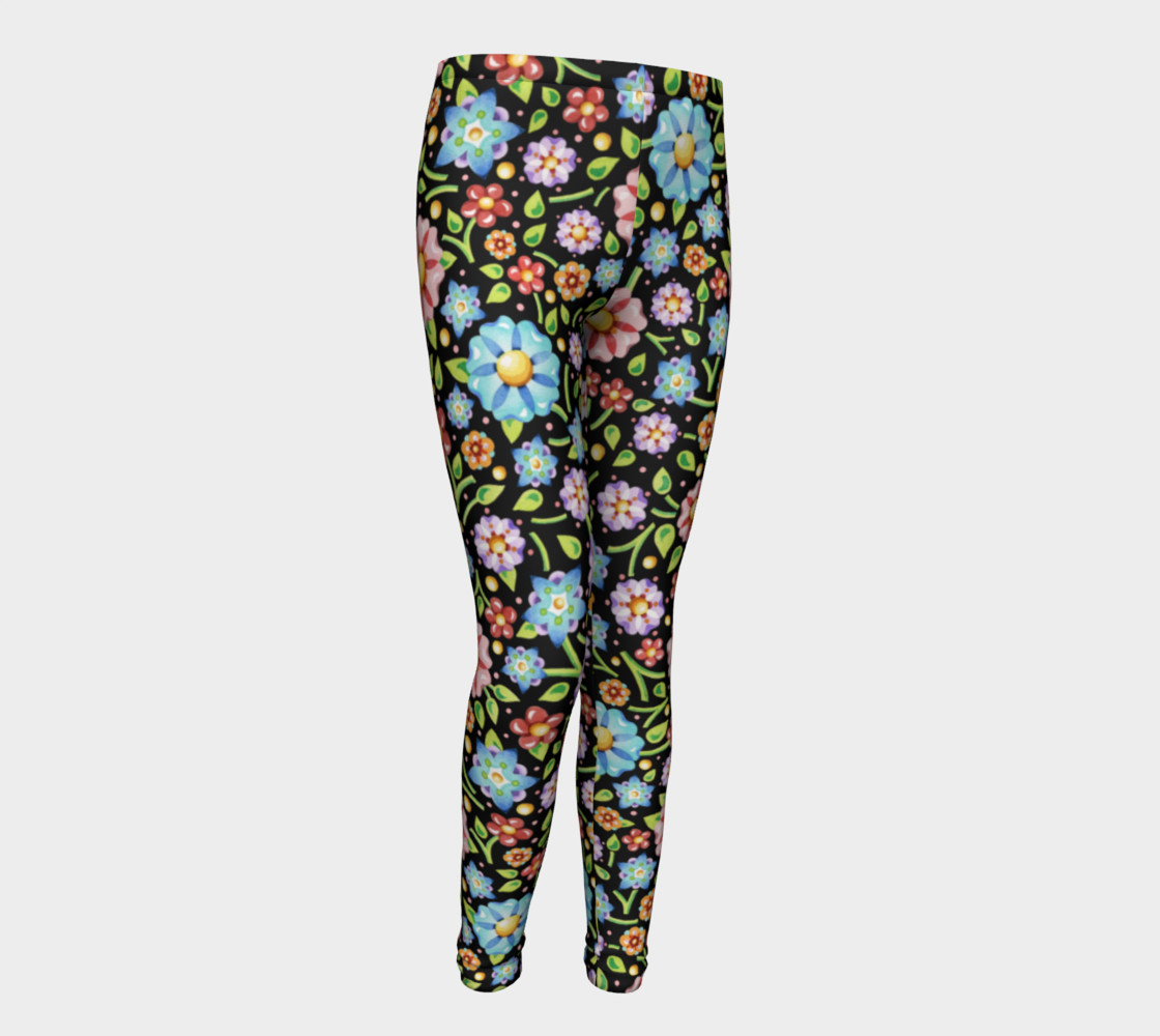 Millefiori Flowers Youth Leggings preview #1