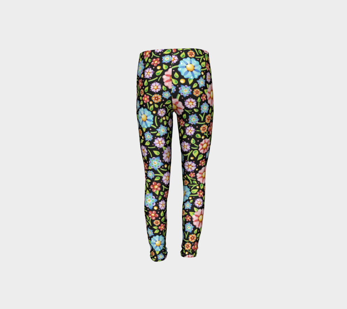 Millefiori Flowers Youth Leggings preview #8