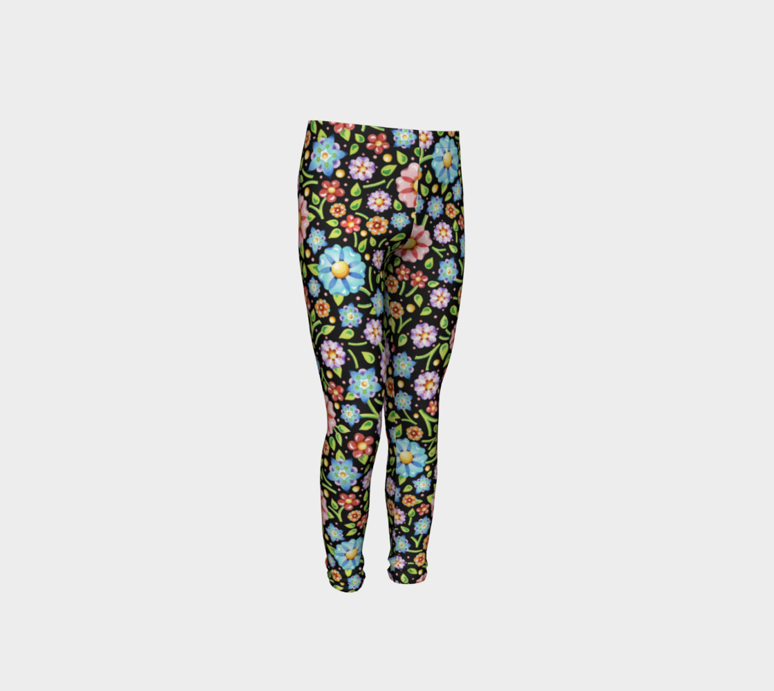 Millefiori Flowers Youth Leggings preview #4