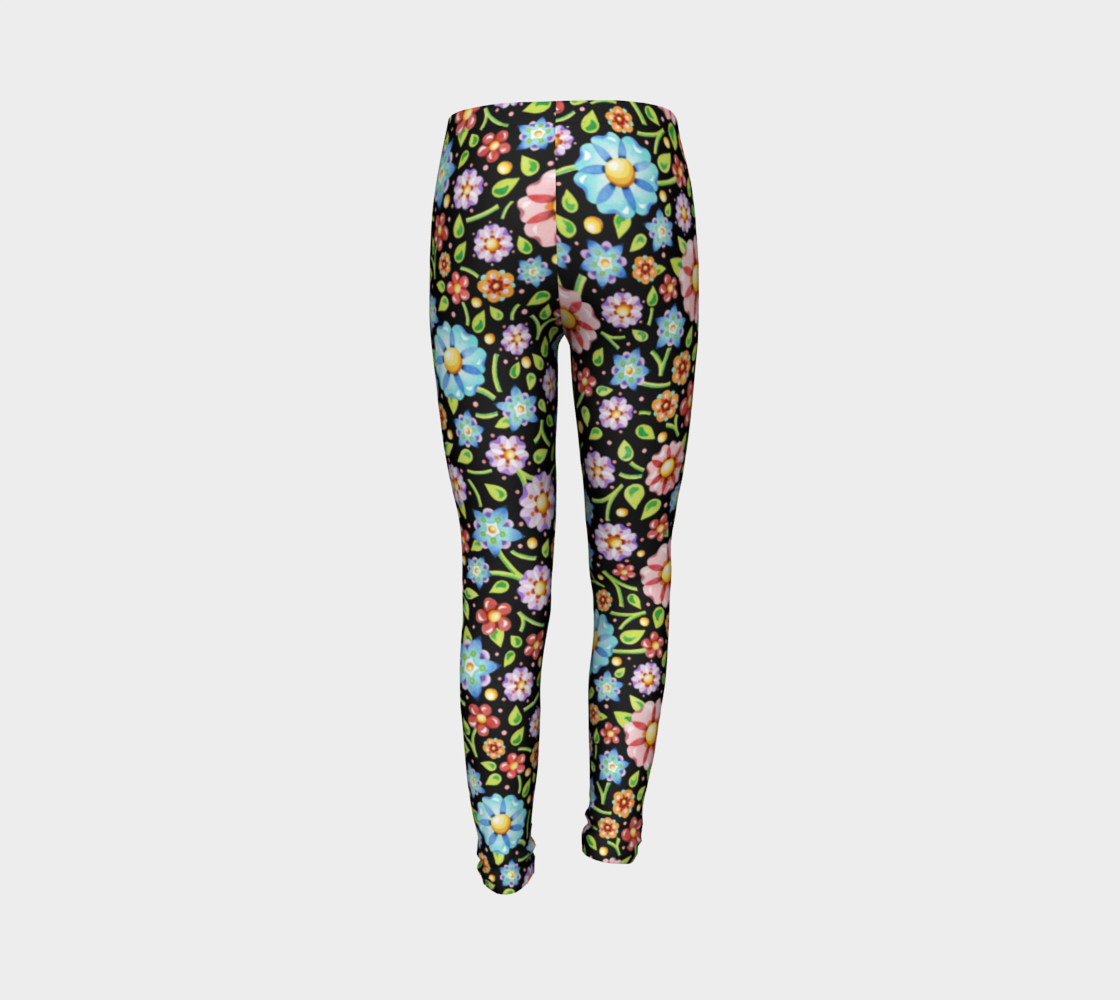 Millefiori Flowers Youth Leggings preview #7