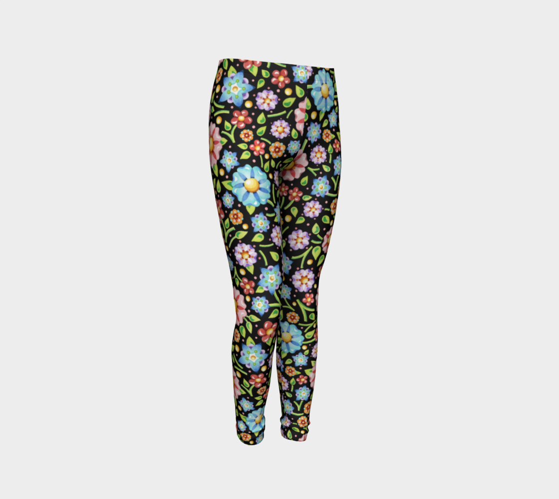 Millefiori Flowers Youth Leggings preview #3