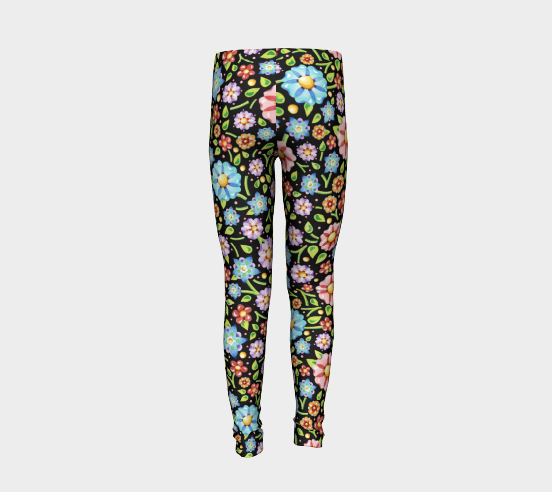 Millefiori Flowers Youth Leggings preview #6