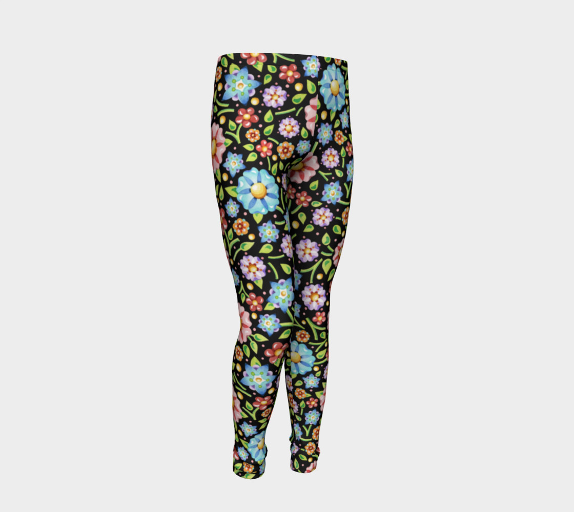 Millefiori Flowers Youth Leggings preview #2