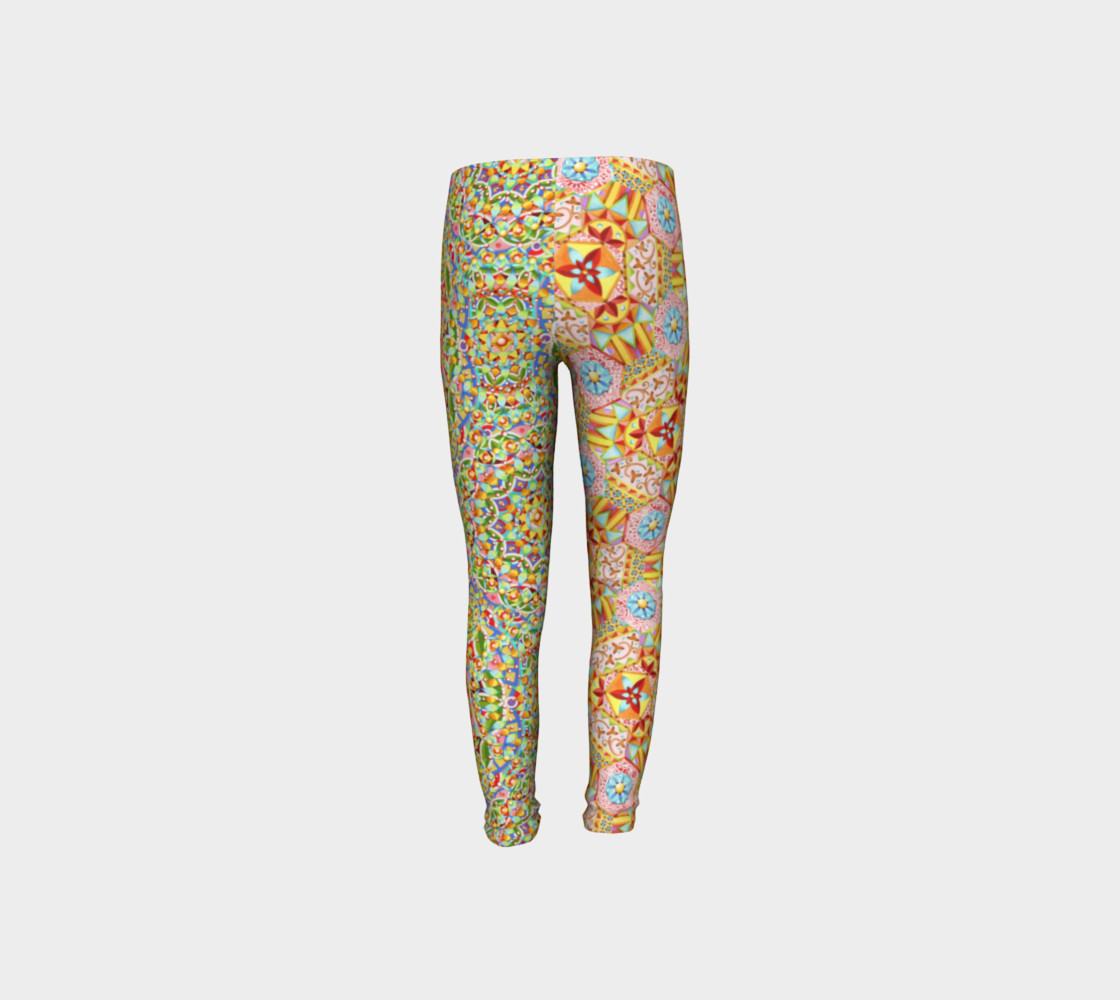 Trinket Hexagons Youth Leggings preview #8