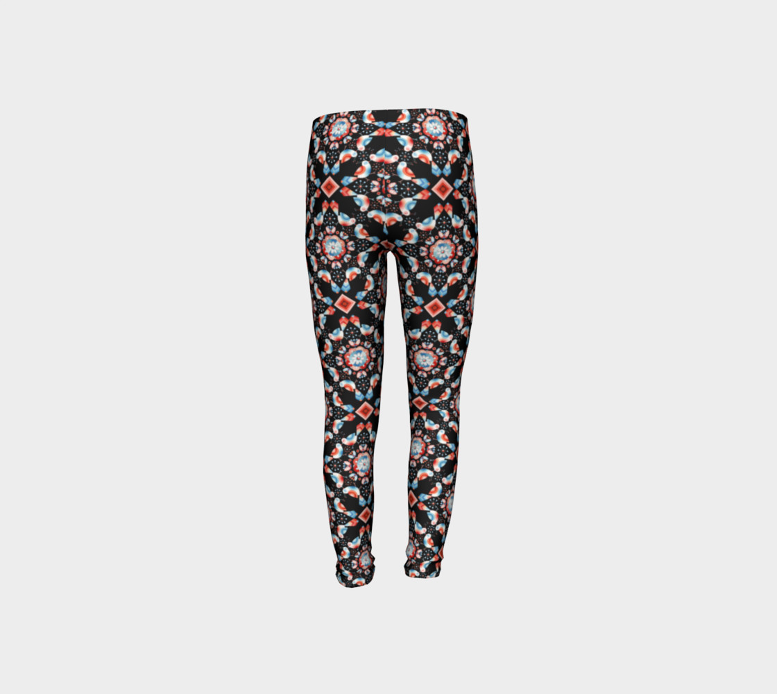 Folkloric Lovebirds Youth Legging preview #8