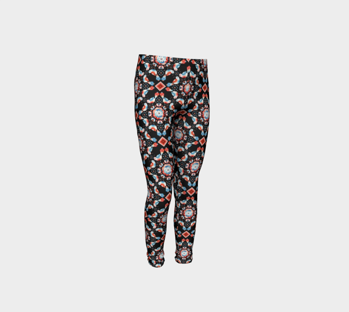 Folkloric Lovebirds Youth Legging preview #4