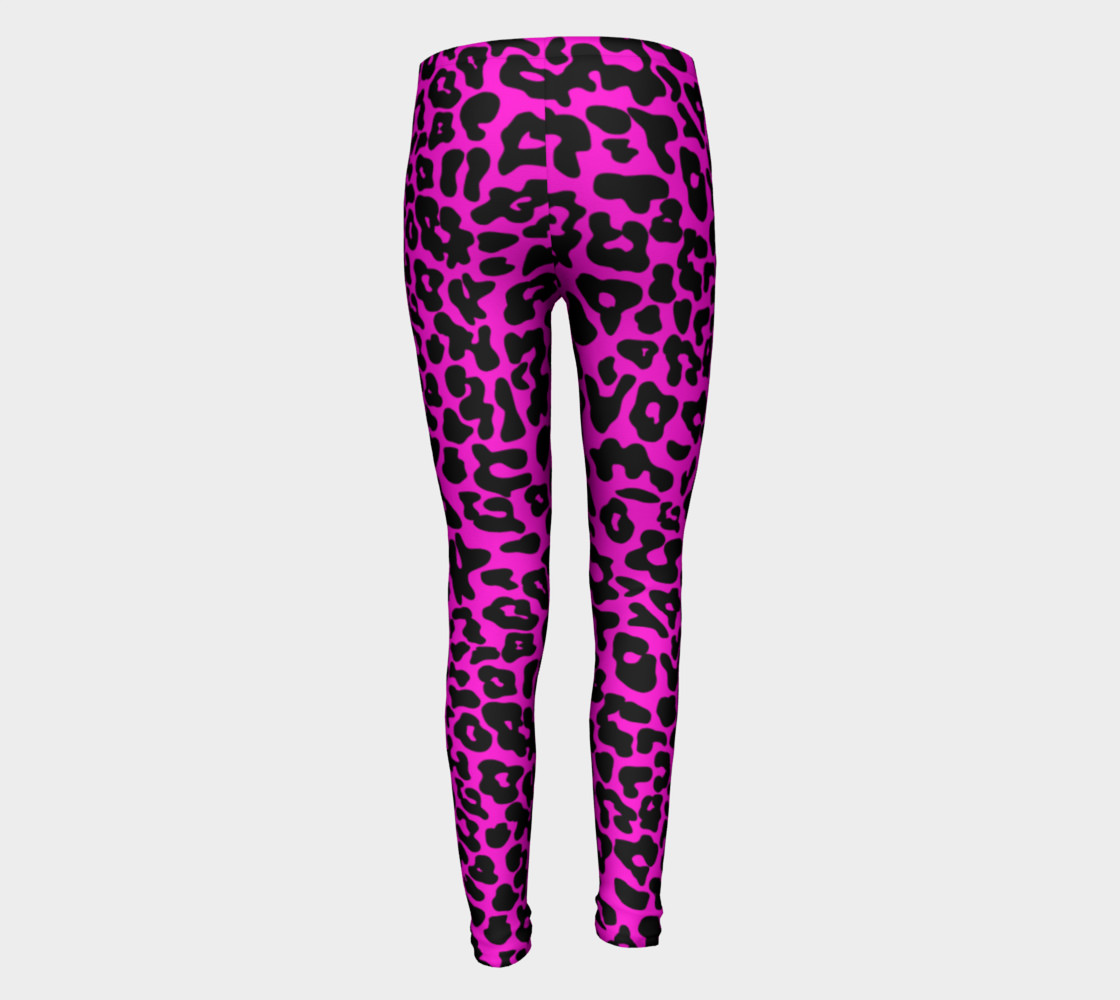 Kids Leopard Leggings Pink preview #5