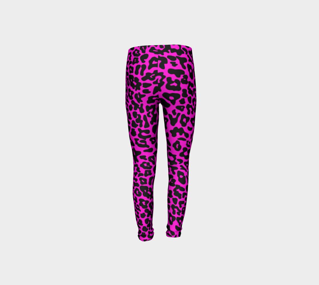 Kids Leopard Leggings Pink preview #8