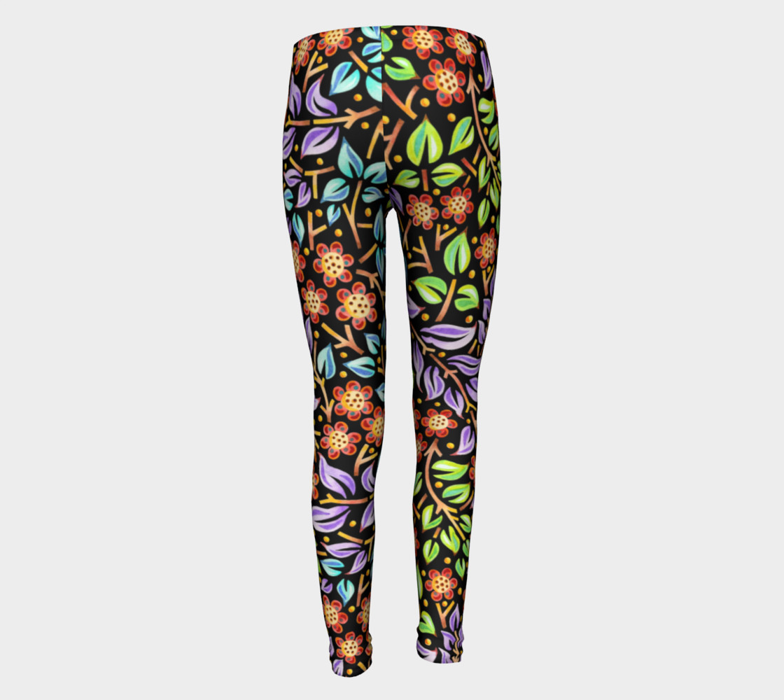 Filigree Floral Youth Leggings preview #5