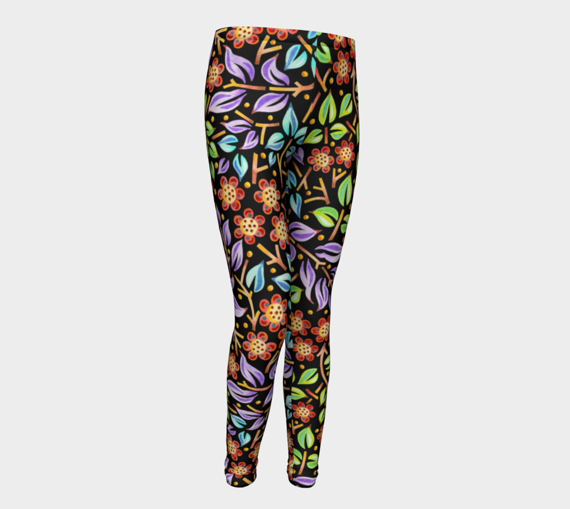 Filigree Floral Youth Leggings preview #1