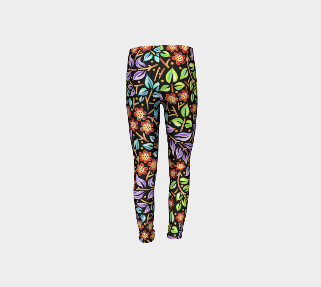 Filigree Floral Youth Leggings preview #8