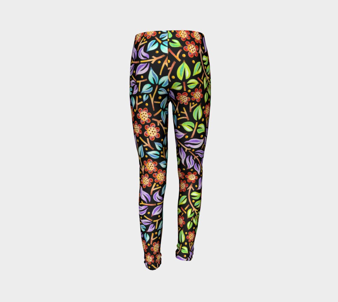 Filigree Floral Youth Leggings preview #7
