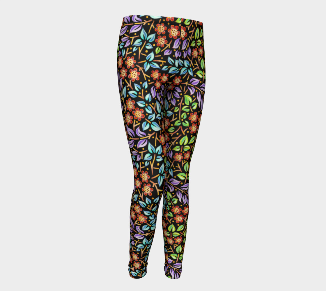 Filigree Floral Youth Leggings small print preview #1