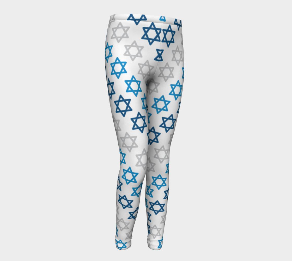 Aperçu de Star of David Hanukkah Leggings - Kids #1