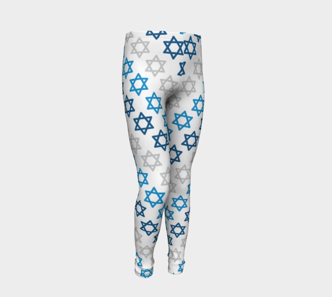 Aperçu de Star of David Hanukkah Leggings - Kids #2