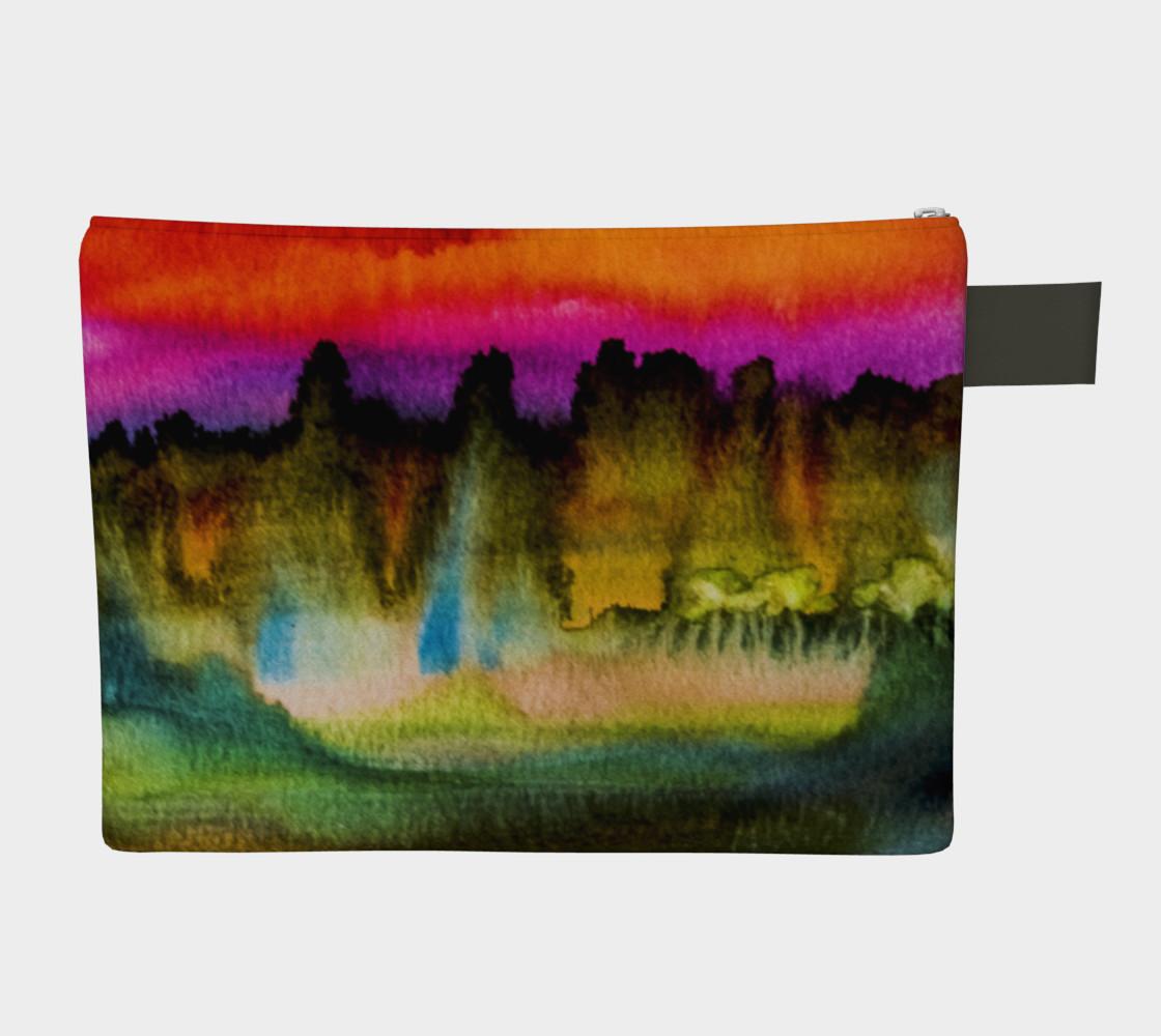 Dramatic Watercolor Zipper Case preview #2