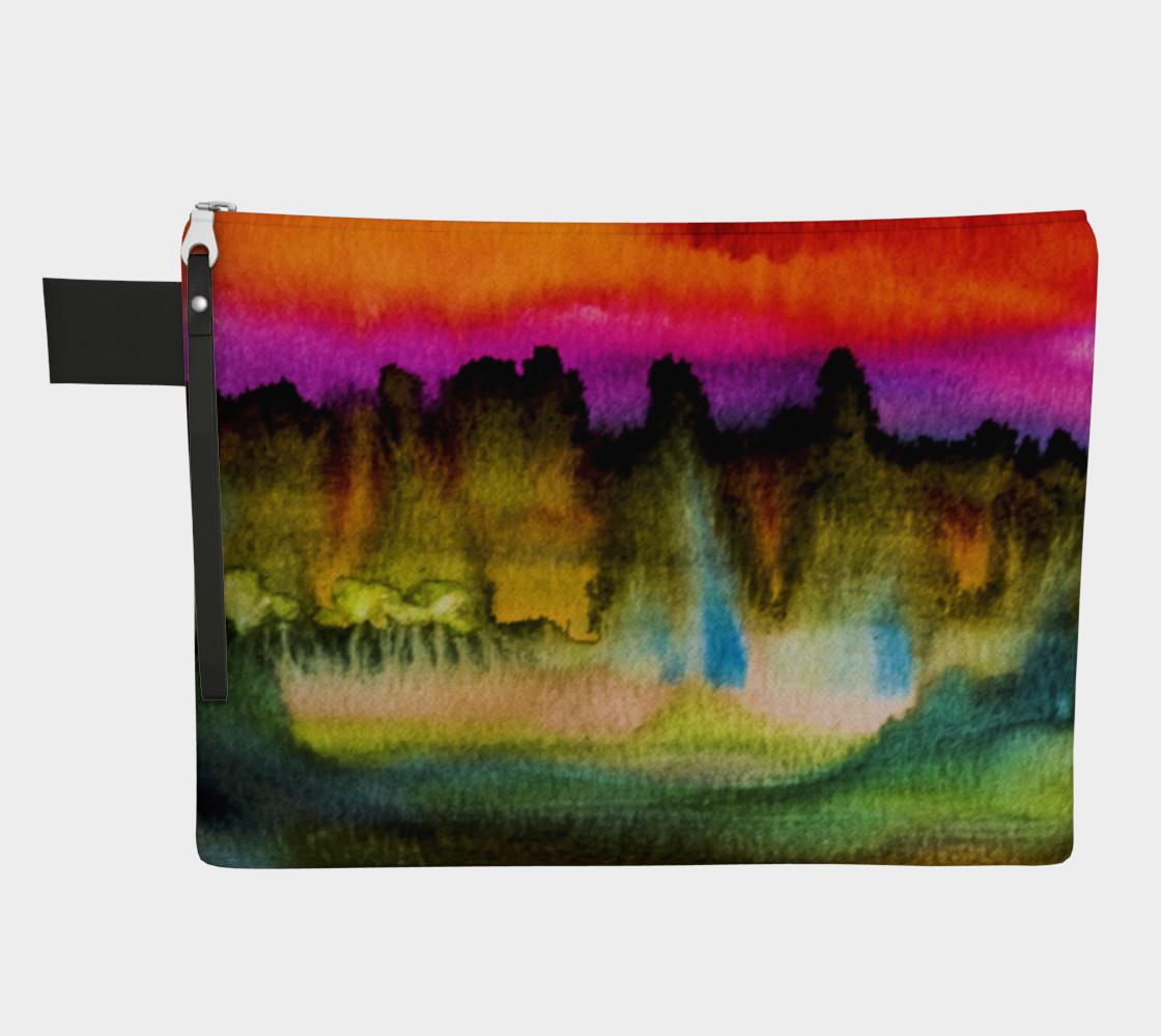 Dramatic Watercolor Zipper Case preview #1