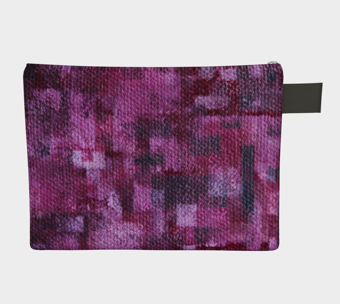 Pink Mosaic Zipper CarryAll   preview #2
