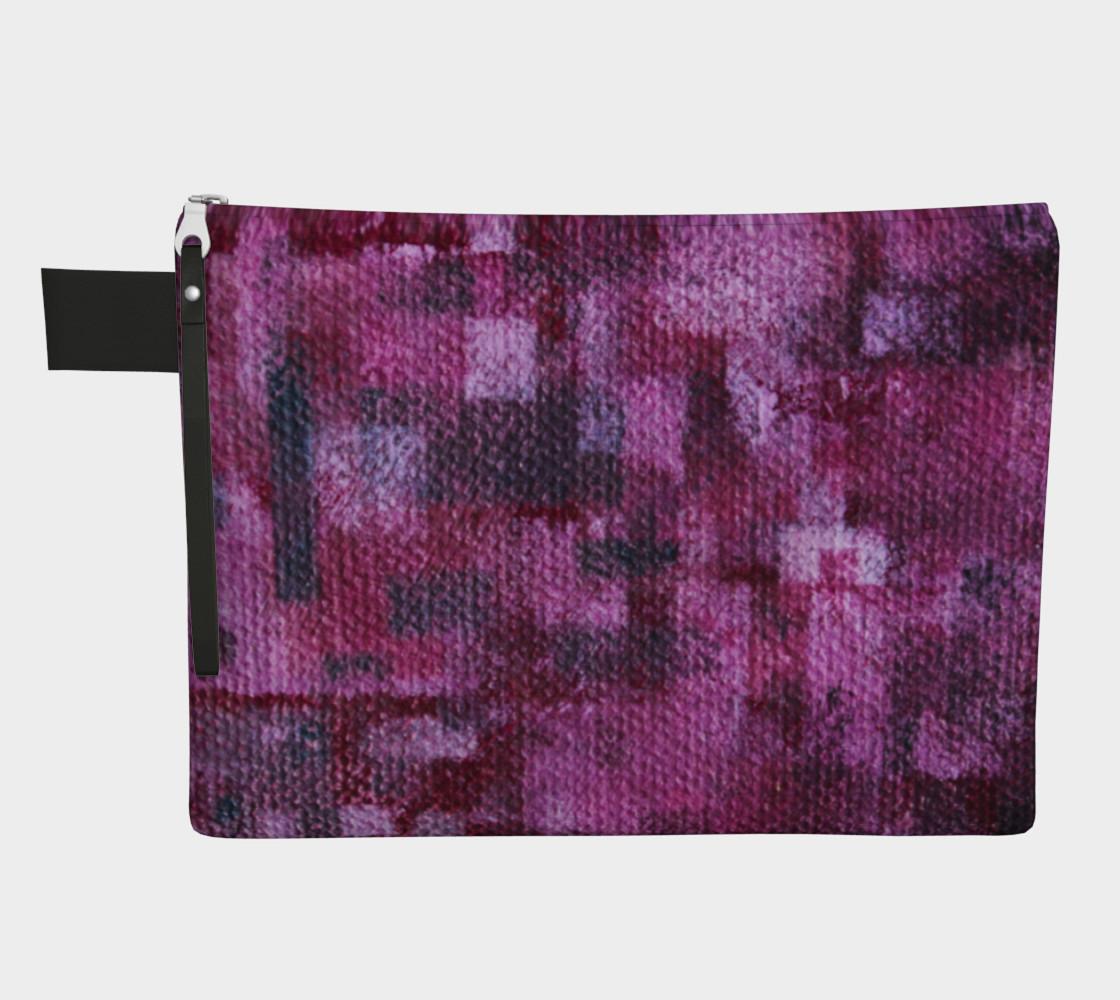 Pink Mosaic Zipper CarryAll   preview #1