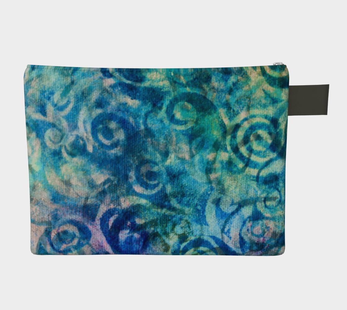 Blue Swirl Zipper CarryAll preview #2