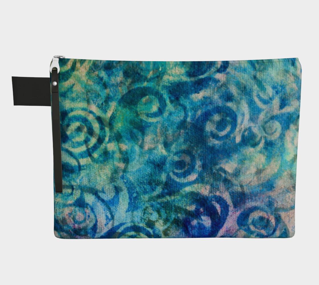 Blue Swirl Zipper CarryAll preview #1
