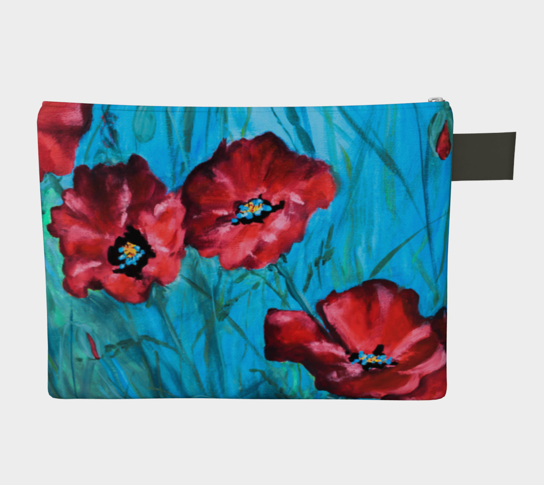 Big Poppies Zipper Carry All preview #2