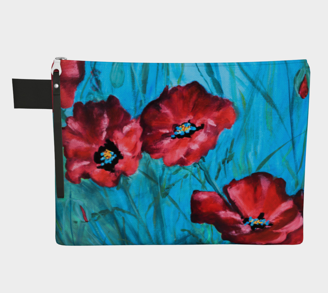 Big Poppies Zipper Carry All preview #1