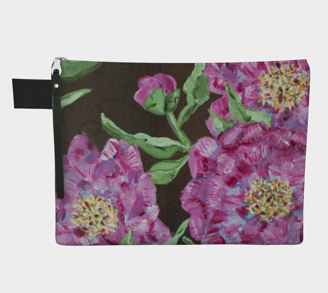 Pink Peony Zipper Carry All preview #1