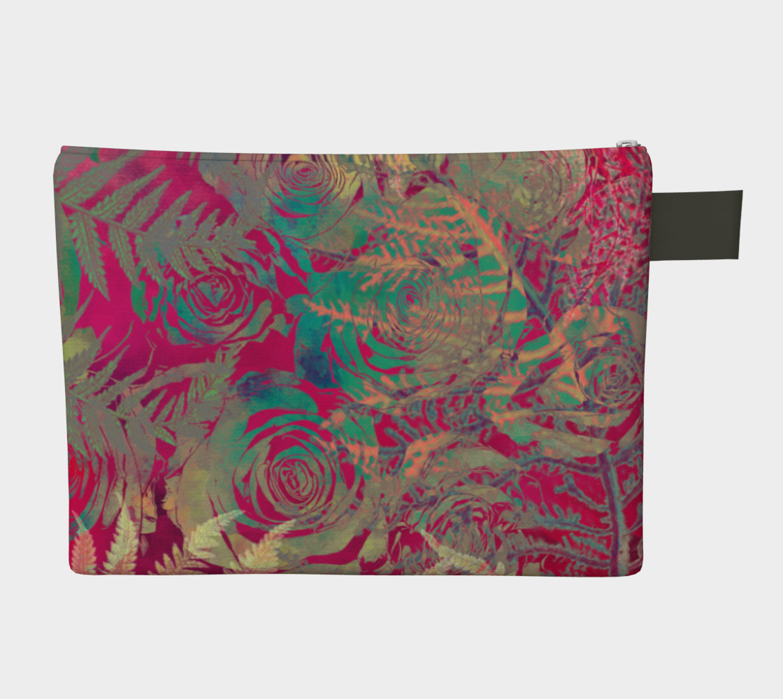 Flowers  zipper carry all preview #2