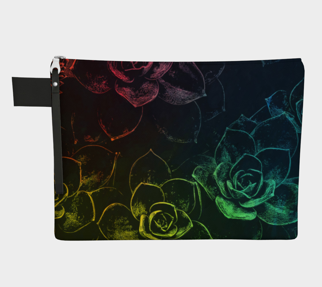 Flowers  black zipper carry all preview #1