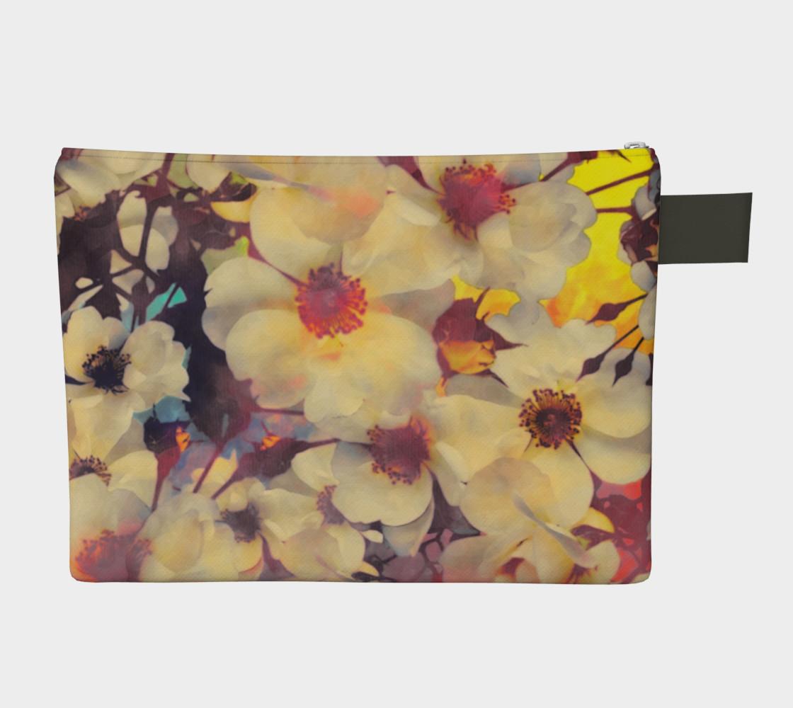 Flowers light  zipper carry all preview #2