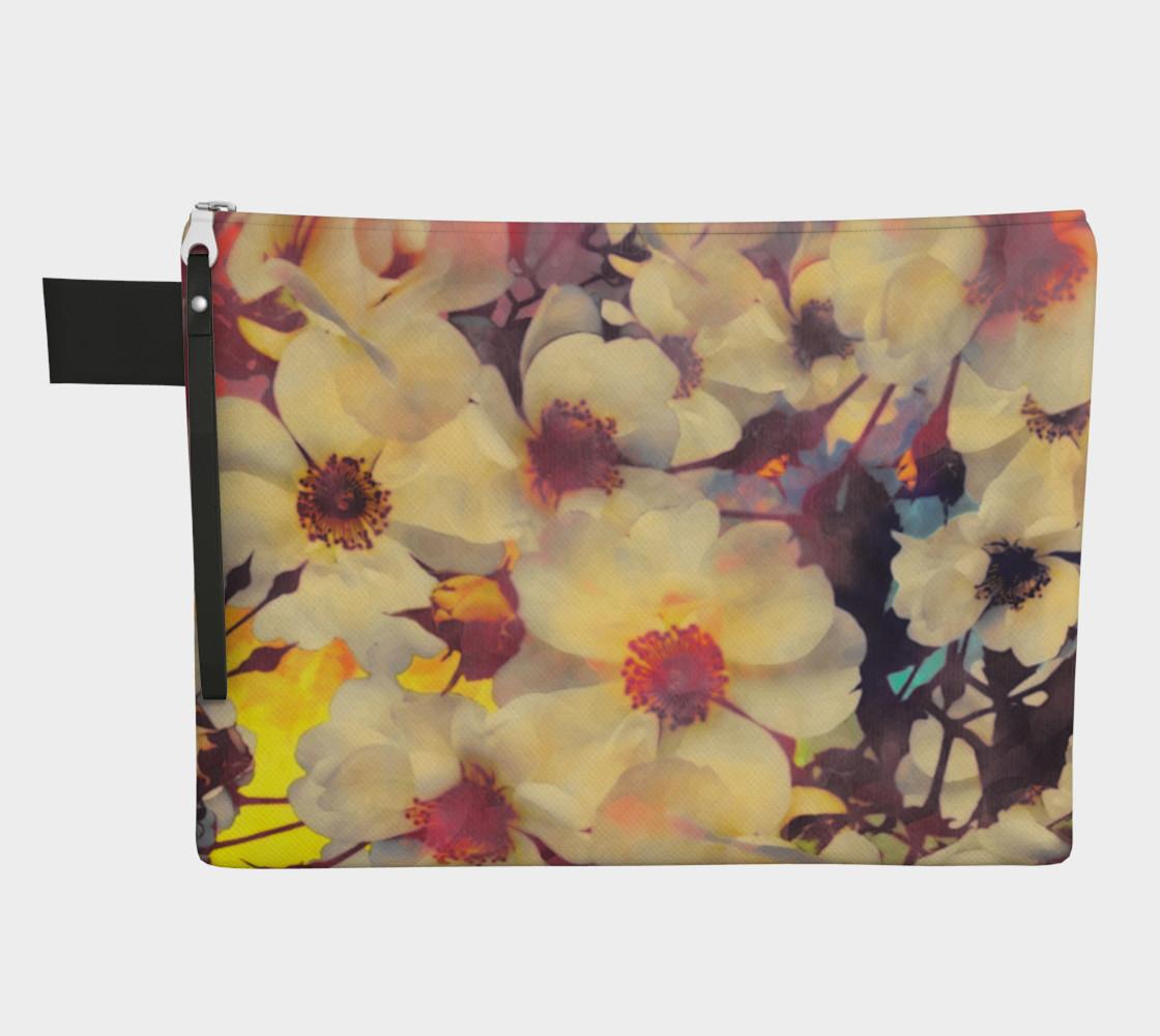 Flowers light  zipper carry all preview #1