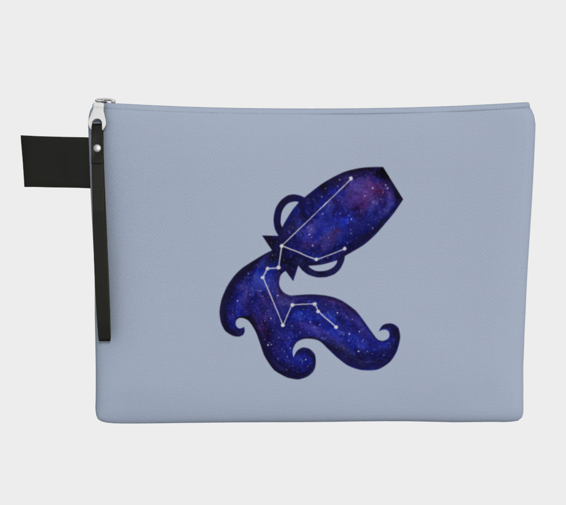Astrological sign Aquarius constellation Zipper Carry All Pouch preview #1