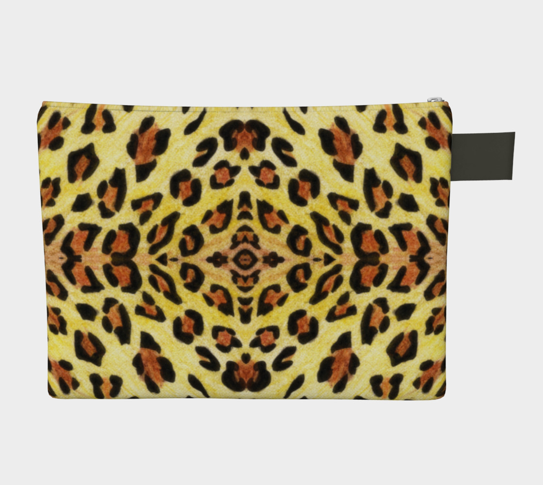 Leopard print Zipper Carry All Pouch preview #2