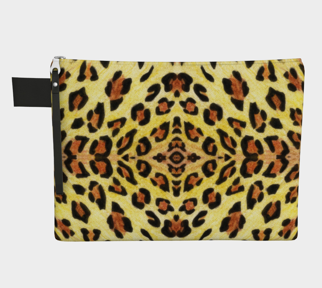 Leopard print Zipper Carry All Pouch preview #1