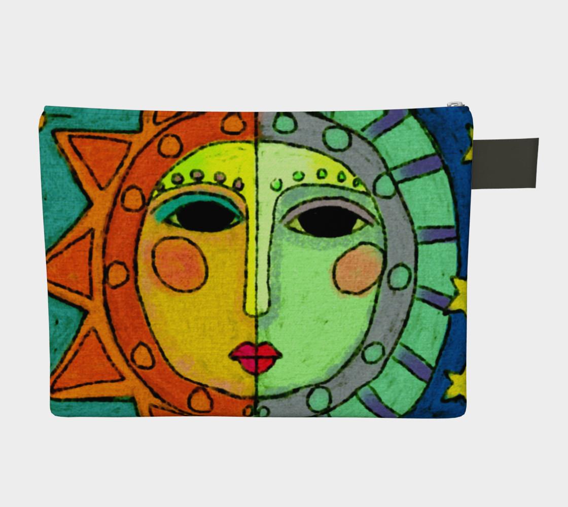 Aperçu de Sun and Moon Abstract Art Clutch Bag #2