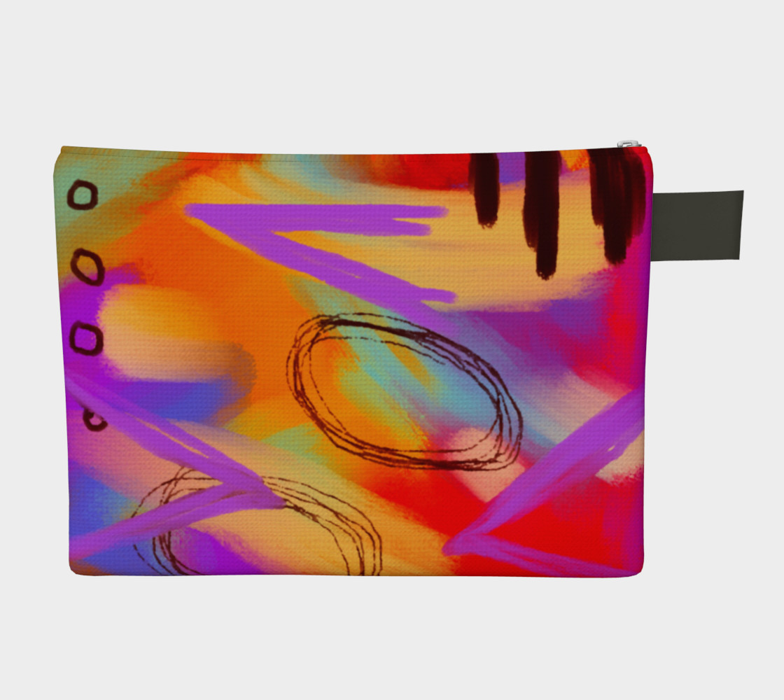 Funky Abstract Art Clutch Bag preview #2