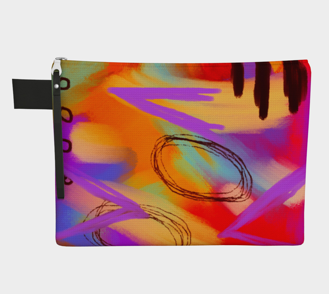 Funky Abstract Art Clutch Bag preview #1
