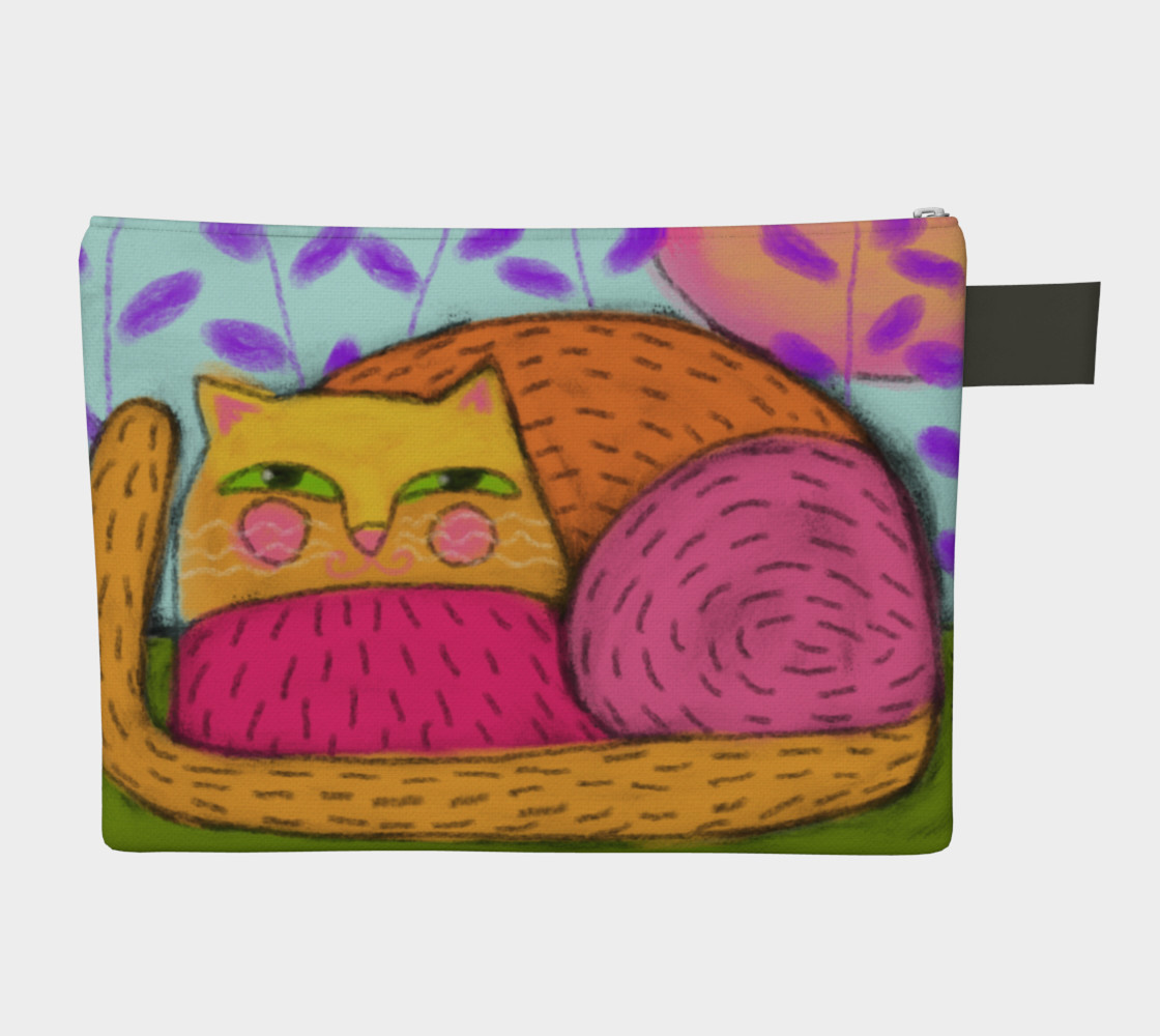 Abstract Cat Clutch Bag preview #2