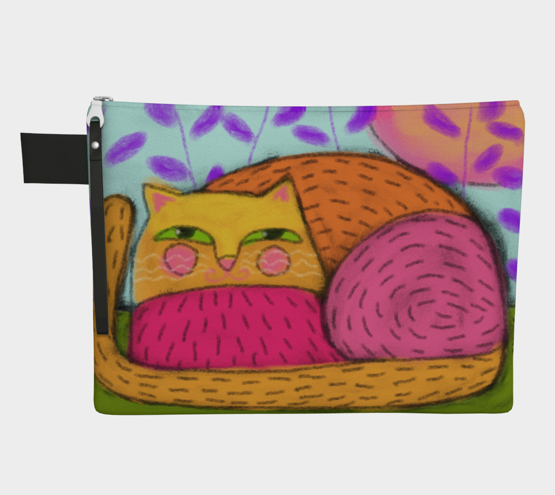 Abstract Cat Clutch Bag preview #1