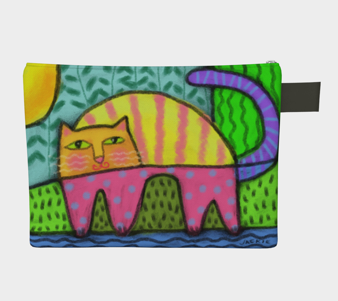 Funky Cat Abstract Art Clutch Bag preview #2