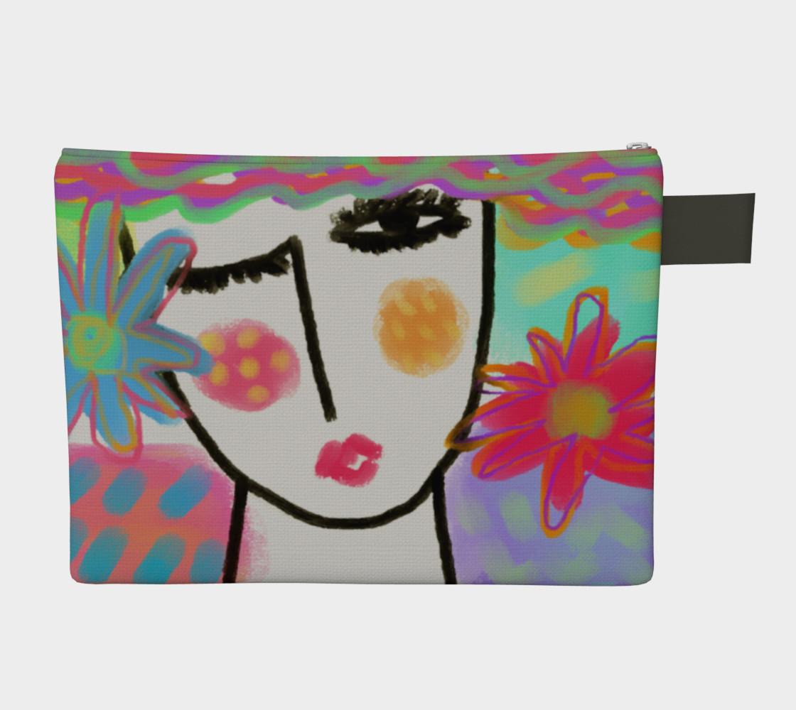 Aperçu de Summer Abstract Art Clutch Bag #2