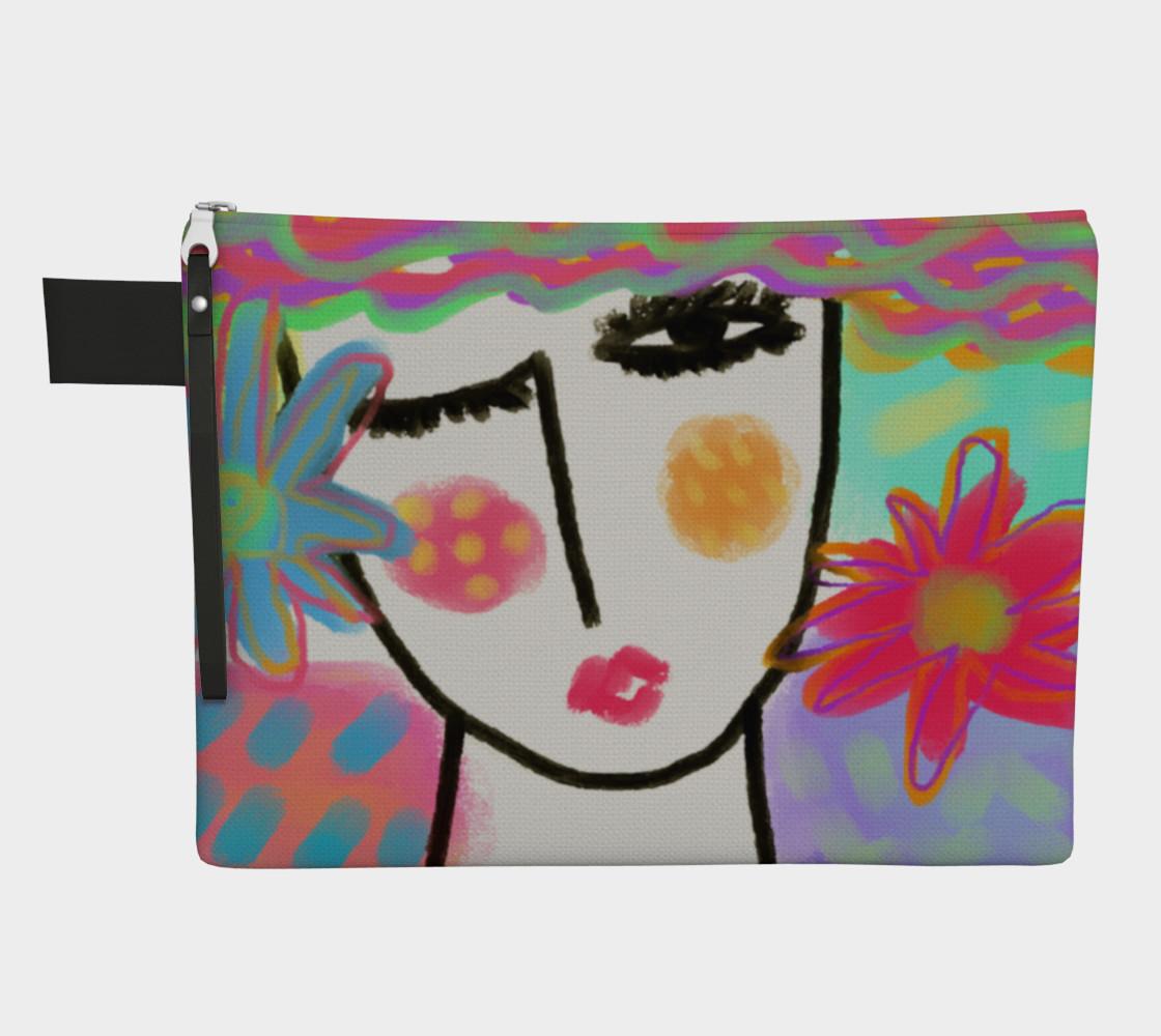Aperçu de Summer Abstract Art Clutch Bag #1