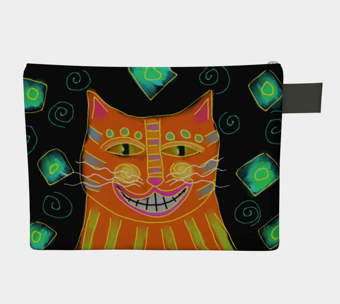 Smiling Cat Abstract Art Clutch Bag preview #2
