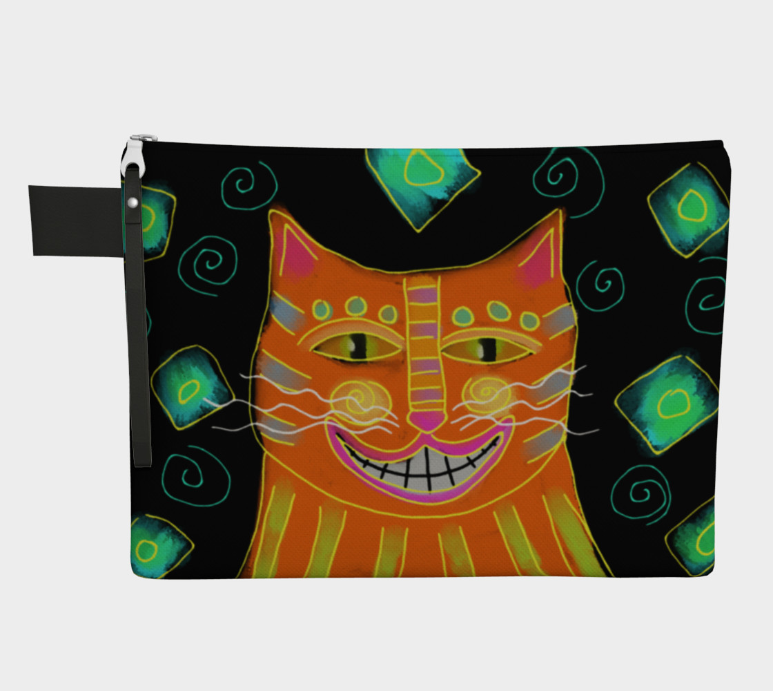 Smiling Cat Abstract Art Clutch Bag preview #1