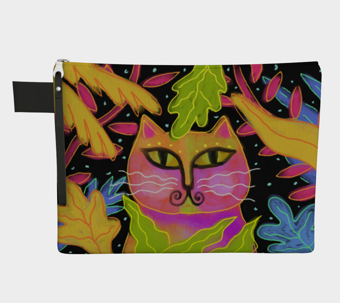 Colorful Abstract Cat Clutch Bag preview #1