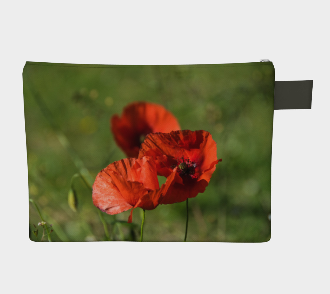 Utterly Italy Tuscany Poppies Zipper Carry-All preview #2