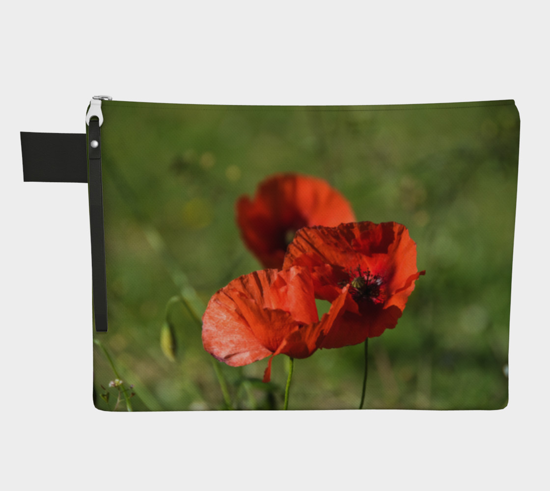 Utterly Italy Tuscany Poppies Zipper Carry-All preview #1