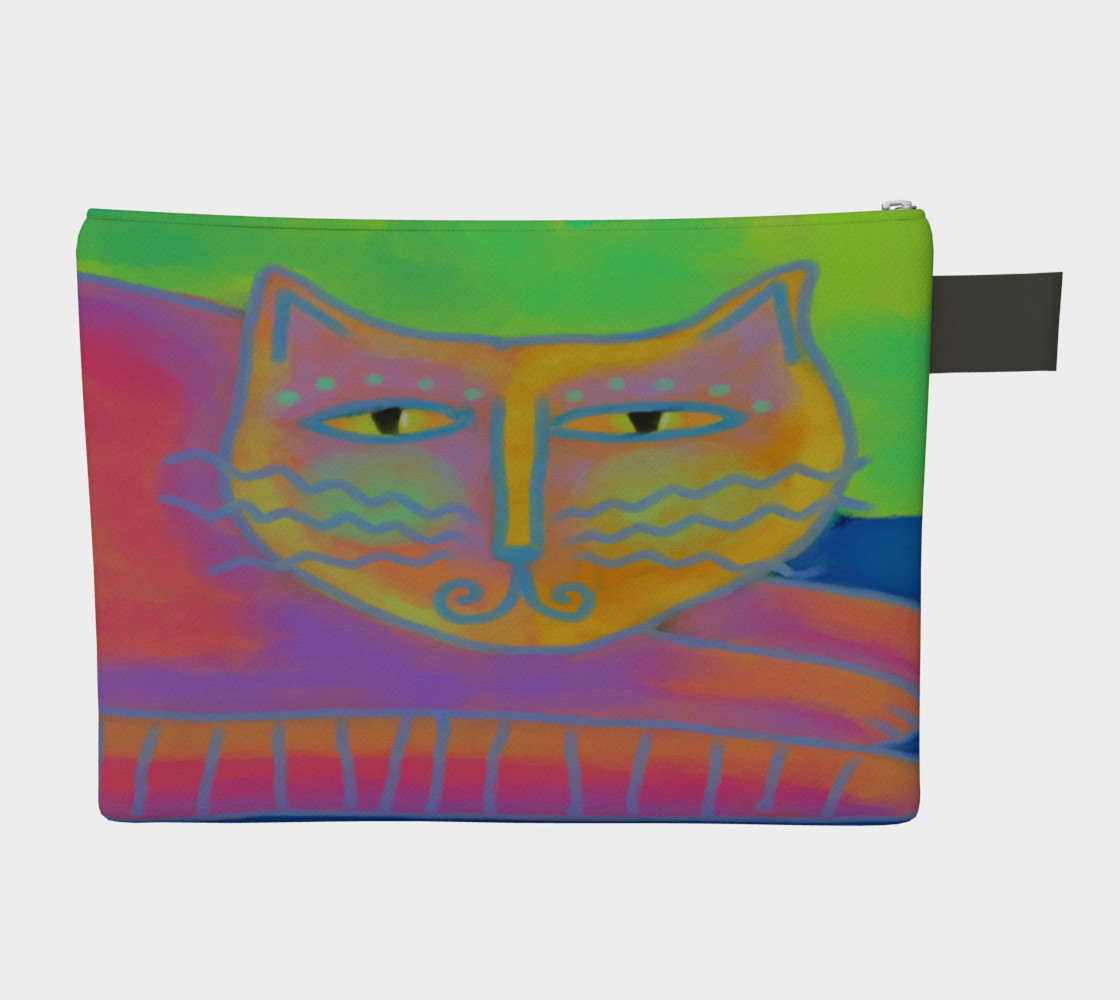 Hot Pink Cat Abstract Art Clutch Bag preview #2