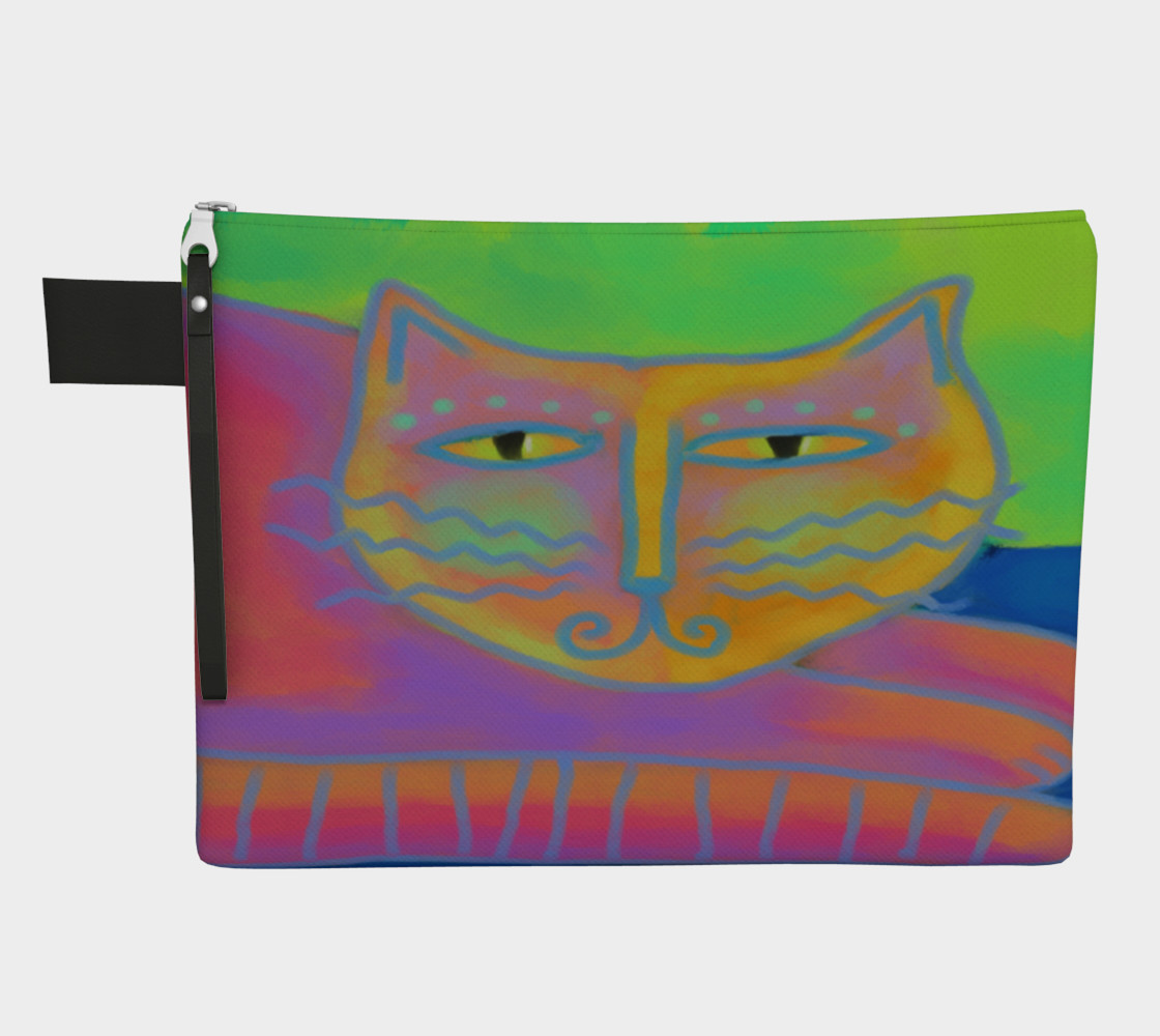 Hot Pink Cat Abstract Art Clutch Bag preview #1